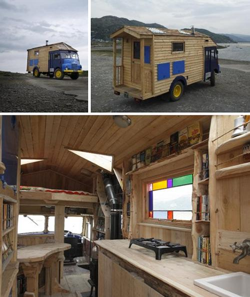 House truck for L interieur trailer